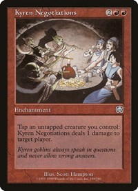 Kyren Negotiations, Magic: The Gathering, Mercadian Masques