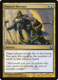 Search Warrant, Magic: The Gathering, Return to Ravnica