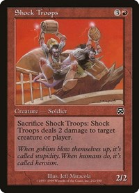 Shock Troops, Magic: The Gathering, Mercadian Masques