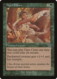 Tiger Claws, Magic: The Gathering, Mercadian Masques