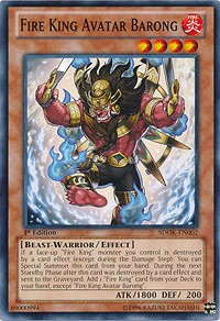 Fire King Avatar Barong, YuGiOh, Structure Deck: Onslaught of the Fire Kings