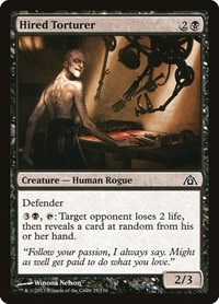 Hired Torturer, Magic: The Gathering, Dragon's Maze