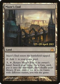 Maze's End, Magic: The Gathering, Prerelease Cards