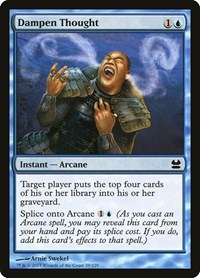 Dampen Thought, Magic: The Gathering, Modern Masters