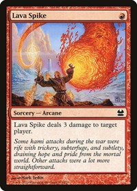 Lava Spike, Magic: The Gathering, Modern Masters