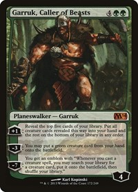 Garruk, Caller of Beasts, Magic: The Gathering, Magic 2014 (M14)