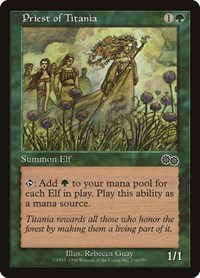 Priest of Titania, Magic: The Gathering, Urza's Saga