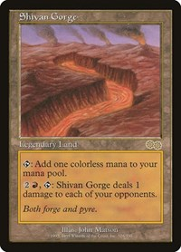Shivan Gorge, Magic, Urza's Saga