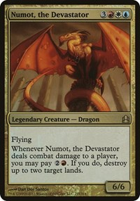 Numot, the Devastator (Oversized), Magic: The Gathering, Oversize Cards