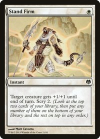 Stand Firm, Magic: The Gathering, Duel Decks: Heroes vs. Monsters