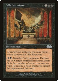 Vile Requiem, Magic: The Gathering, Urza's Saga