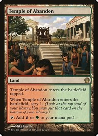 Temple of Abandon, Magic: The Gathering, Theros