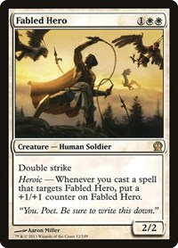 Fabled Hero, Magic: The Gathering, Theros