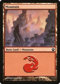 Mountain (242), Magic: The Gathering, Theros