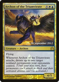 Archon of the Triumvirate, Magic: The Gathering, Prerelease Cards