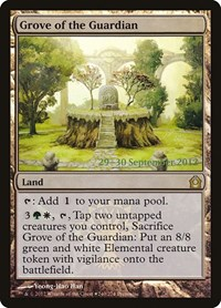 Grove of the Guardian, Magic: The Gathering, Prerelease Cards