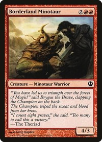 Borderland Minotaur, Magic: The Gathering, Theros