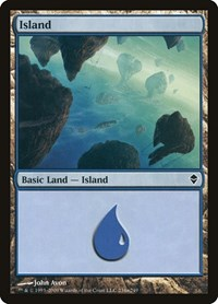 Island (234a), Magic: The Gathering, Zendikar