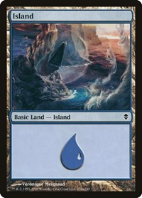 Island (236a), Magic: The Gathering, Zendikar