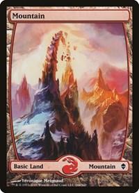 Mountain (244) - Full Art, Magic: The Gathering, Zendikar