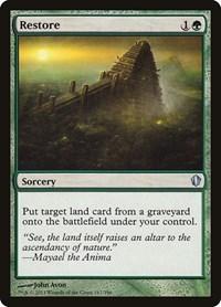 Restore, Magic: The Gathering, Commander 2013