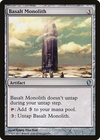 Basalt Monolith, Magic: The Gathering, Commander 2013