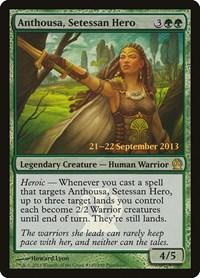 Anthousa, Setessan Hero, Magic: The Gathering, Prerelease Cards