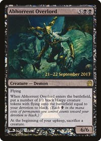 Abhorrent Overlord, Magic: The Gathering, Prerelease Cards