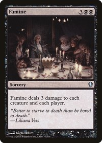 Famine, Magic: The Gathering, Commander 2013