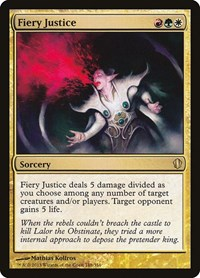 Fiery Justice, Magic: The Gathering, Commander 2013