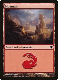 Mountain (349), Magic: The Gathering, Commander 2013