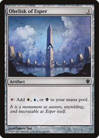 Obelisk of Esper, Magic, Commander 2013