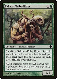 Sakura-Tribe Elder, Magic: The Gathering, Commander 2013