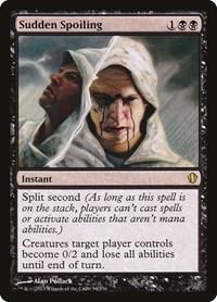 Sudden Spoiling, Magic, Commander 2013