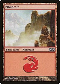 Mountain (245), Magic: The Gathering, Magic 2010 (M10)