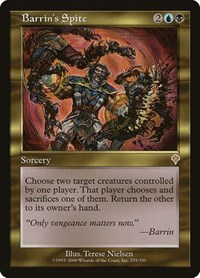 Barrin's Spite, Magic: The Gathering, Invasion