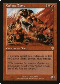 Callous Giant, Magic: The Gathering, Invasion