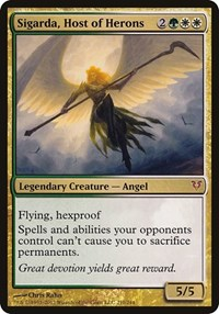 Sigarda, Host of Herons (Oversized), Magic, Oversize Cards