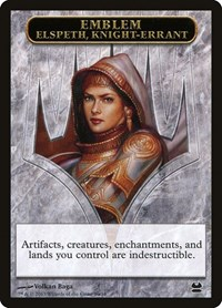 Emblem - Elspeth, Knight-Errant, Magic: The Gathering, Modern Masters