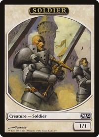 Soldier Token, Magic: The Gathering, Magic 2012 (M12)
