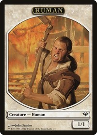 Human Token, Magic: The Gathering, Dark Ascension