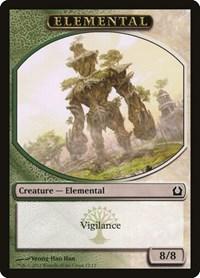 Elemental Token (Green/White), Magic, Return to Ravnica