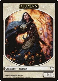 Human Token (White), Magic: The Gathering, Avacyn Restored