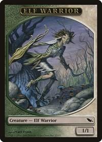 Elf Warrior Token (Green/White), Magic, Shadowmoor