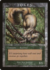 Squirrel Token (Odyssey), Magic: The Gathering, Magic Player Rewards