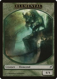 Elemental Token (Green), Magic, Lorwyn