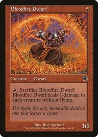 Bloodfire Dwarf, Magic: The Gathering, Apocalypse