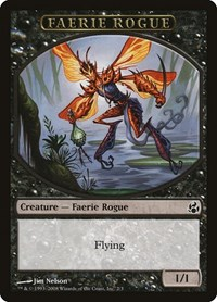 Faerie Rogue Token (Black), Magic: The Gathering, Morningtide