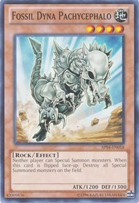 Fossil Dyna Pachycephalo, YuGiOh, Astral Pack 4