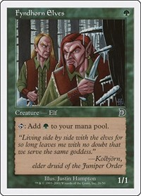 Fyndhorn Elves, Magic: The Gathering, Deckmasters Garfield vs Finkel